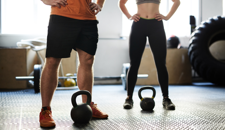 FP fitness training with kettlebells column width