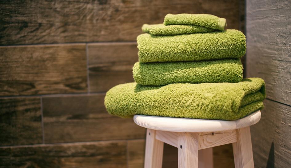 Facilities Towels On Stool Column