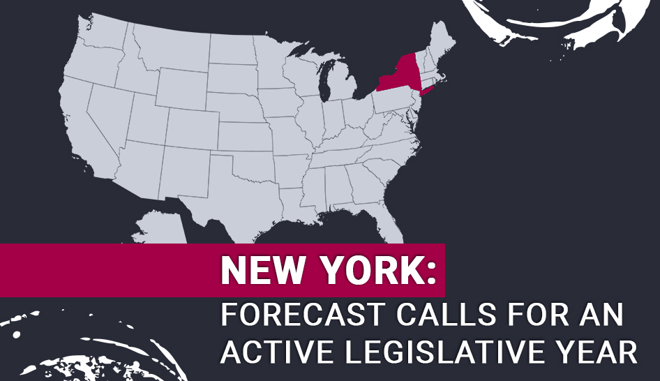 Fitness Policies Forcast New York FORECAST CALLS FOR AN ACTIVE LEGISLATIVE YEAR Column width