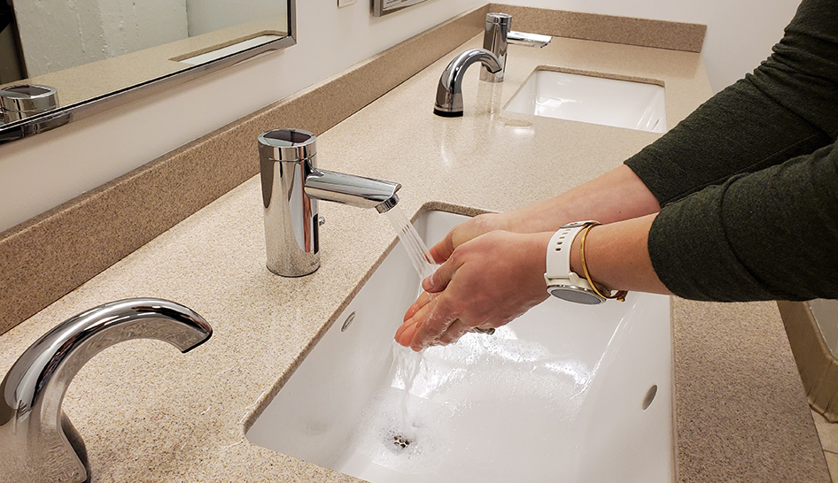 Industry News Handwashing at Sink Column