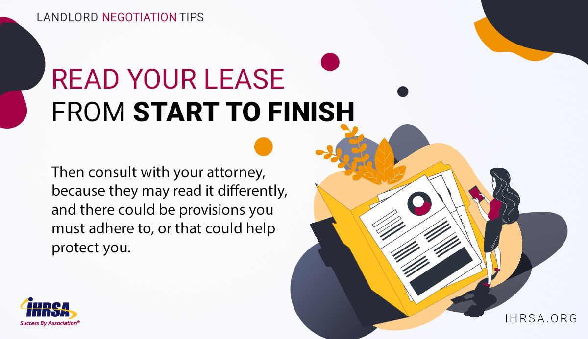 Negotiating with Your Landlord Tip 1 Read Lease