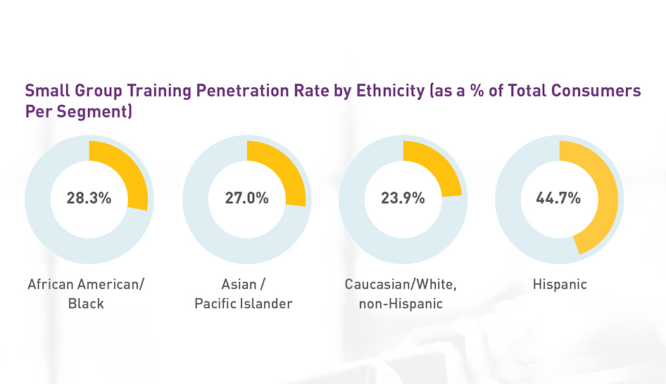Personal Training Sgt Penetration By Ethnicity Column
