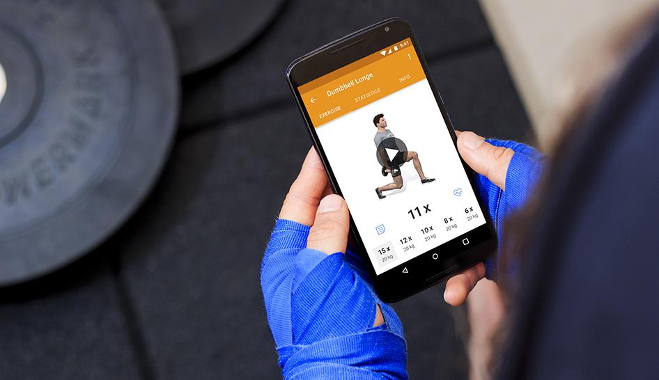 Sales  Virtuagym Smartphone Training Column