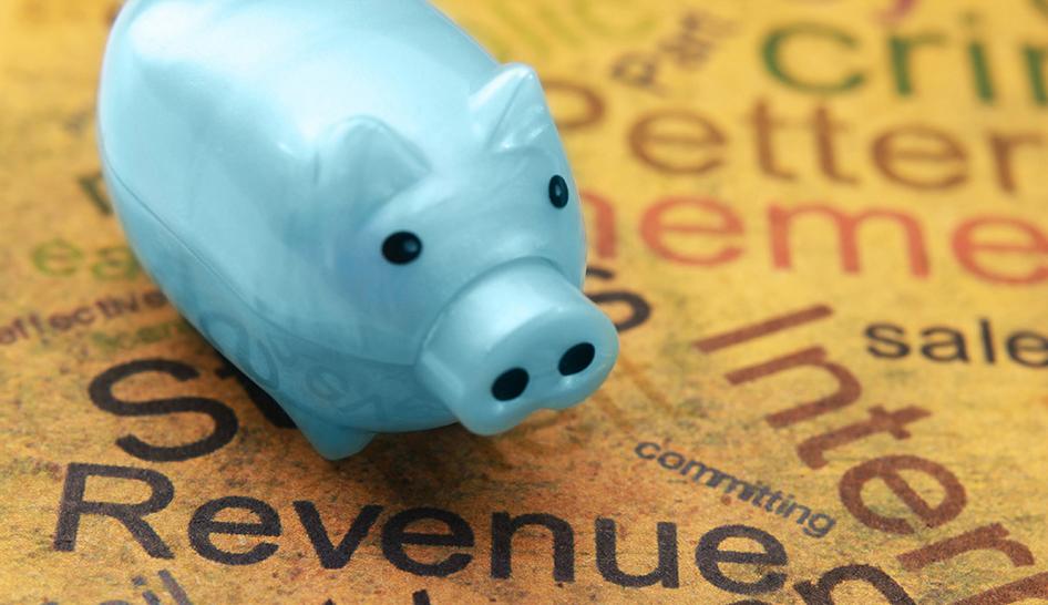 Sales Marketing Piggy Bank Column