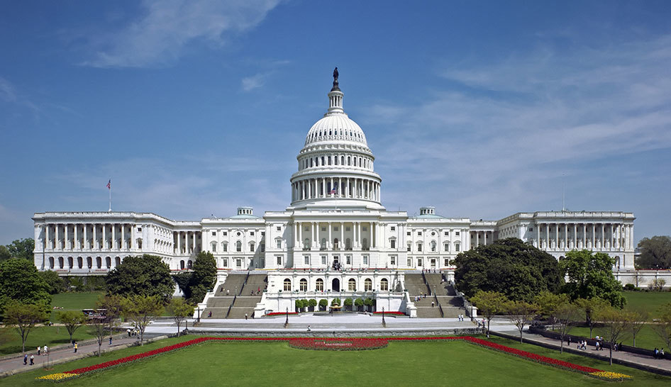 United States Capitol Column Width