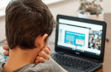 Wellness Boy on Laptop Virtual School Column jpg