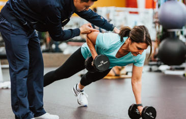 Fitness programming iron grip woman push up column