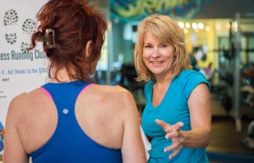 Staffing Stevenson Fitness Two Women Smile Column