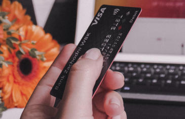 Strategy and finance stock credit card computer column