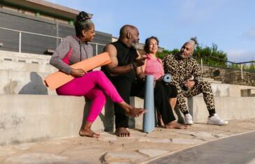 Wellness community programming senior yoga column