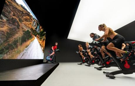 Technology Exercise Bike Class Life Fitness Limited Use Column