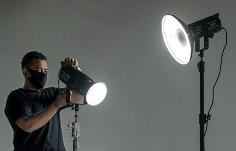 Equipment studio lighting setup mask Unsplash stock column