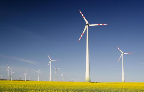 Facilities wind power stock column