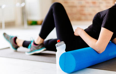 Fitness programming foam roller column