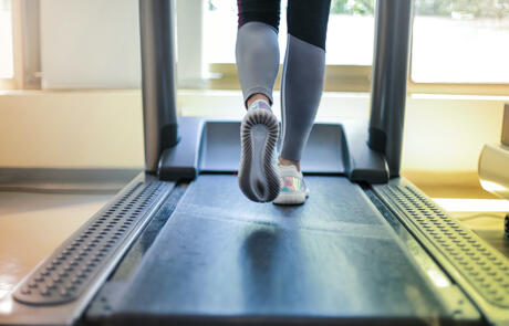 Strategy and finance woman on treadmill Pexel stock column