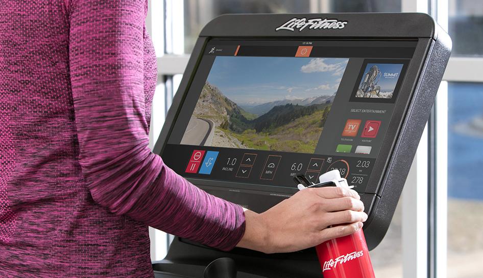 Equipment life fitness screen column