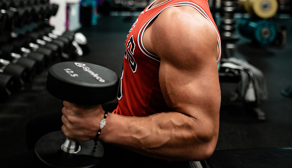 Industry News Muscular Bicep Dumbbell Stock Column