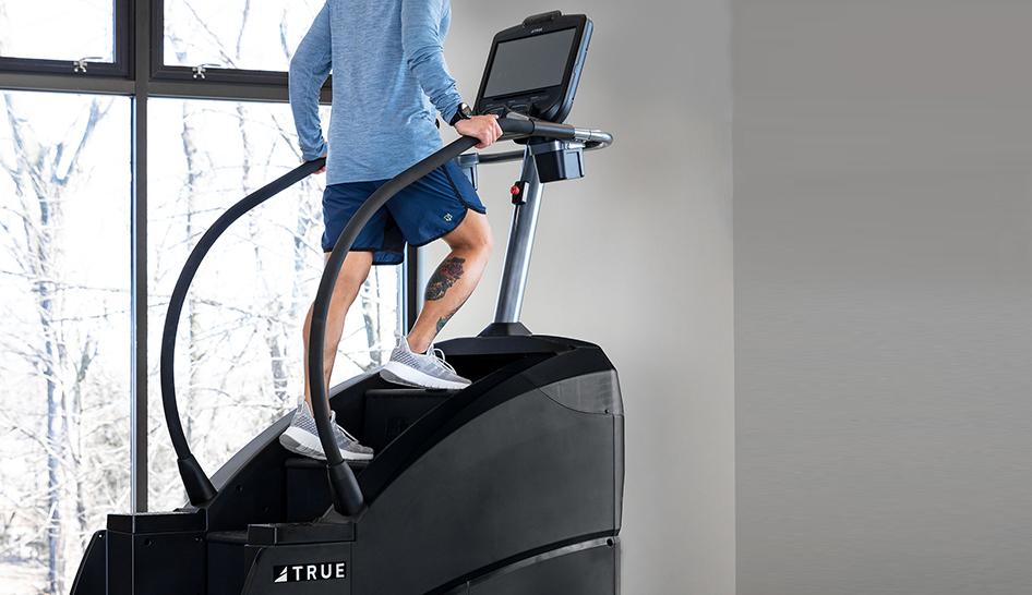 Member retention true fitness stair stepper column