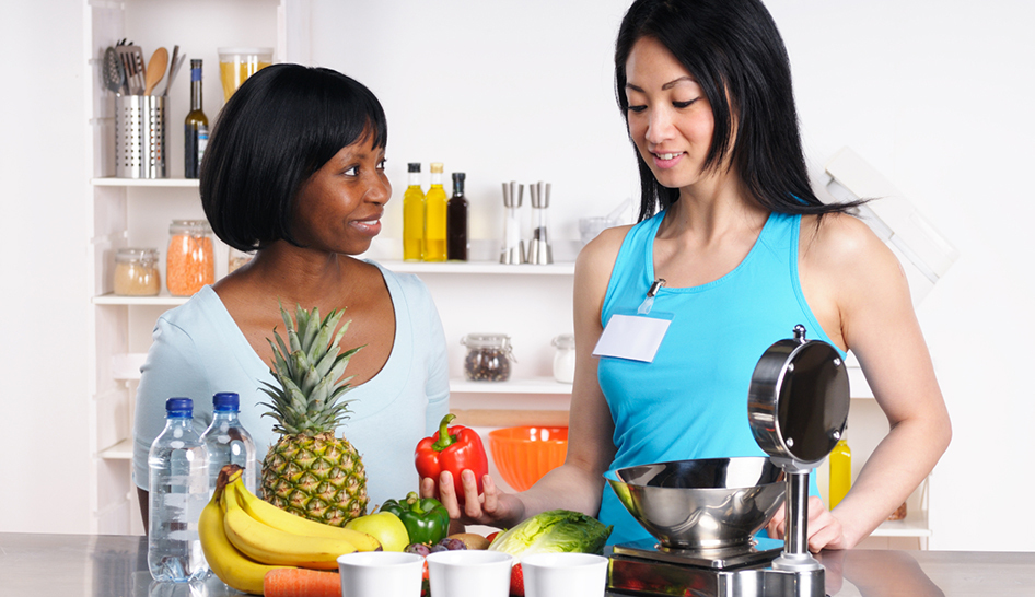 Personal training dietitian fruits stock column