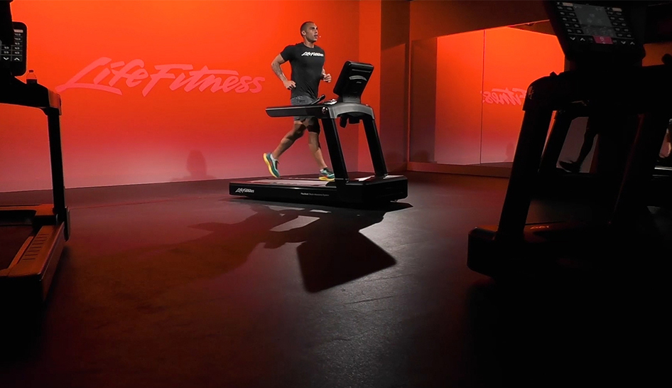 Technology Life Fitness trainer in studio column