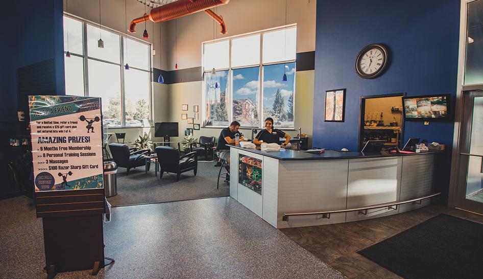 Technology Razor Sharp Fitness Welcome Desk column
