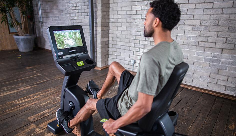 Technology Sports Art Senza Recumbent Cycle column