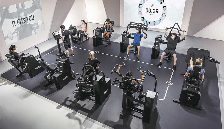 Technology Technogym biocircuit group column