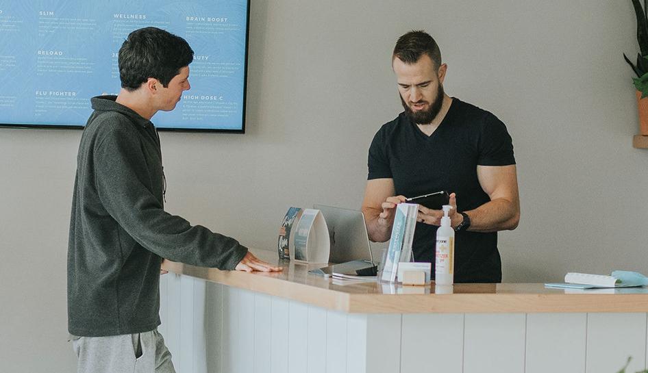 Technology reception cashier stock column