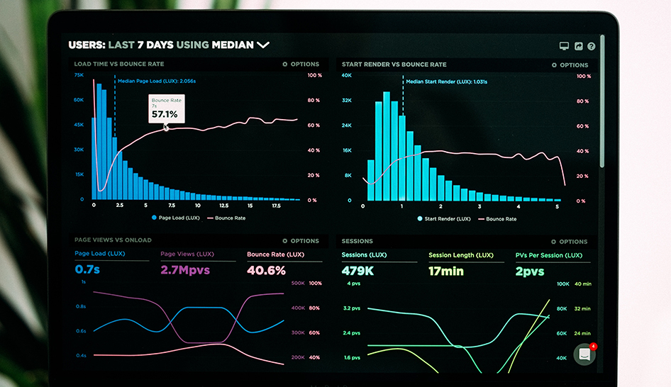 Technology website analytics stock column