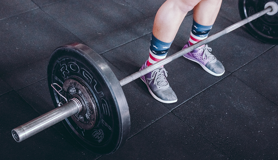 Wellness And Community Programming Barbell Usa Socks Stock Column