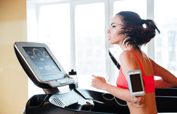 Legal Woman Treadmill Smartphone