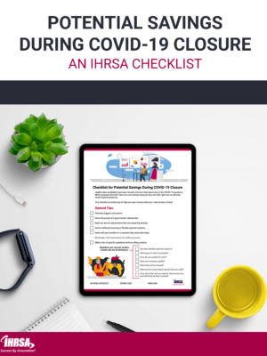 Potential Savings During COVID 19 Closure Checklist cover