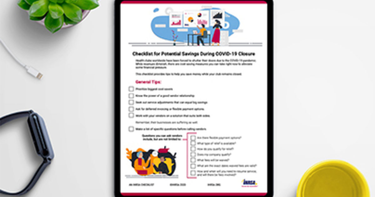 Potential Savings During COVID-19 Closure [CHECKLIST] publication cover